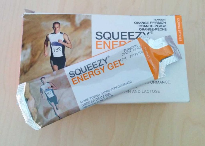 Energy gels for cyclists